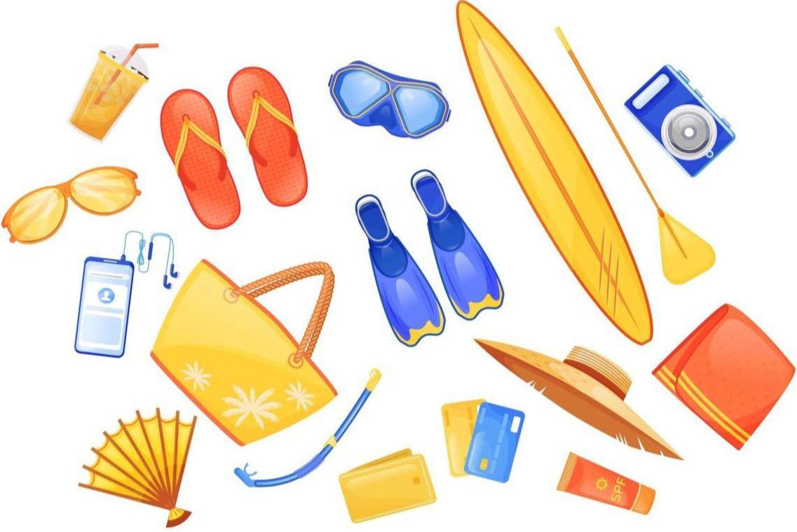 Набор вещей для моря
