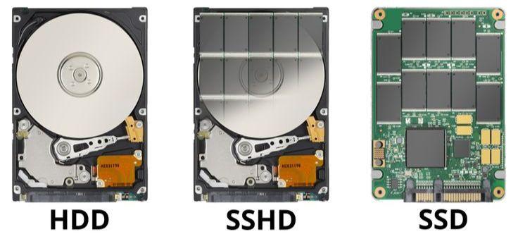 Конструкция накопителей HDD, SSHD и SSD