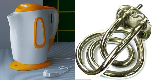 чайники с открытым нагревательным элементом