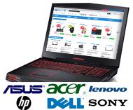 Ноутбуки Asus, Acer, HP, Lenovo, Dell, Sony...