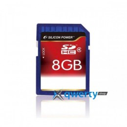 Silicon Power SDHC 8 GB Class 4 SP008GBSDH004V10