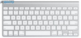 Apple Wireless Keyboard MC184 QWERTY Board