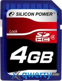 Silicon Power SDHC 4 GB Class 4 SP004GBSDH004V10