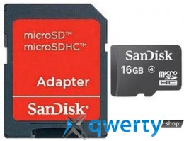 Sandisk microSDHC 16 GB Class 4 + SD Adapter SDSDQM-016G-B35A