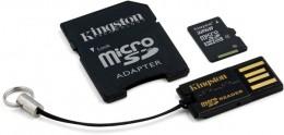 Kingston microSDHC 32 GB (+ SD адаптер, USB миникардридер) MBLY4G2/32GB