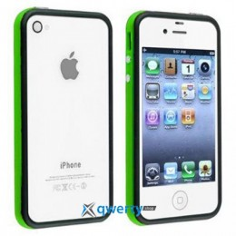 Bumper для iPhone 4/4S black/green