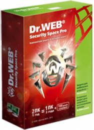 Dr. Web® Security Space Pro (CFW-W12-0001-2) Скретч-карточка Продление купить в Одессе