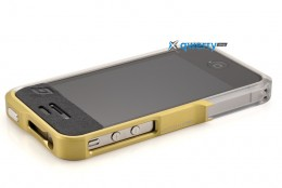 Element Case Vapor4 Pro silver/yellow for iPhone 4/4S