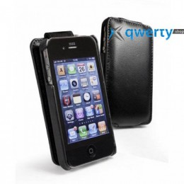 Clasy Leather Flip Top BLACK for iPhone 4/4s