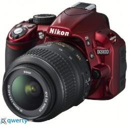 Nikon D3100 Kit (18-55) VR red Официальная гарантия!