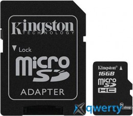 Kingston microSD 16 GB Class 4 (+ SD адаптер) SDC4/16GB