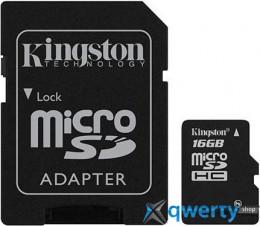 Kingston microSD 16 GB Class 4 (+ SD адаптер) SDC4/16GB