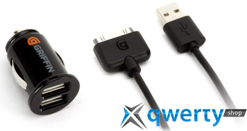 Griffin Car Charger: Griffin PowerJolt Dual Micro Car Charger For IPhone/iPod
