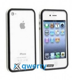 Bumper для iPhone 4/4S black/white