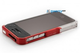 Element Case Vapor4 Pro silver/red for iPhone 4/4S