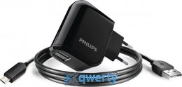 PHILIPS Travel Charger 2207U-2*USB~2.1A+micro USB