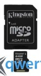 Kingston microSDXC 64GB Class 10 + SD адаптер (SDCX10/64GB)