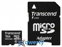 Transcend microSDHC 16GB Class 10 UHS-I UltimateX600 + SD-adapter (TS16GUSDHC10U1)