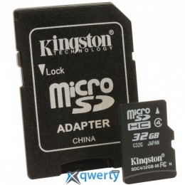 Kingston MicroSDHC 32GB Class 4 + SD-adapter (SDC4/32GB)