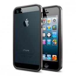 SGP iPhone 5/5S Case Neo Hybrid EX Slim Metal Series Gunmetal SGP1006