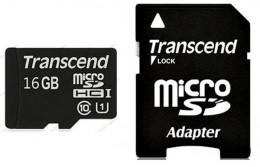 Transcend microSDHC 16 GB Class 10 UHS-I Premium (+ адаптер) TS16GUSDU1