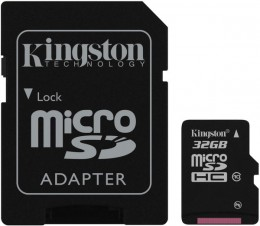 Kingston microSD 32 GB Class 10 (+ SD адаптер) SDC10/32GB
