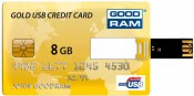 GOODRAM Credit Card 8 GB Gold PD8GH2GRCCPR9
