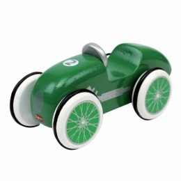 Mini wooden green Race car. 521