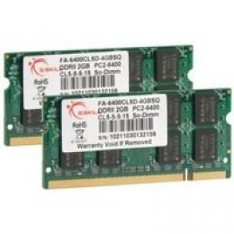 SoDIMM DDR2 4GB (2x2GB) 800 MHz G.Skill (FA-6400CL5D-4GBSQ)