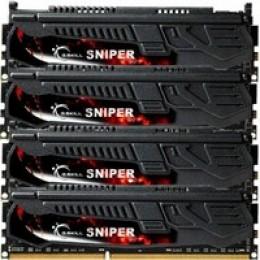 32GB DDR3 (4x8Gb) 2133 MHz G.Skill Sniper (F3-2133C10Q-32GSR)