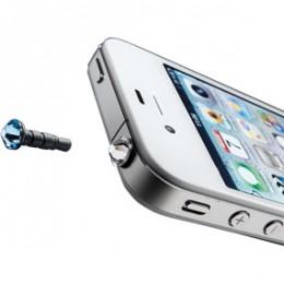 Аксессуары Crystal iPhone & Smartphone (3,5mm) Blue, Transp (CRYSTALMOBILETB)