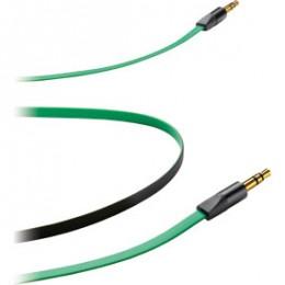 Кабель Cellular Line AUX для авто 3,5мм на 3,5мм green (APLOCUSTA4)