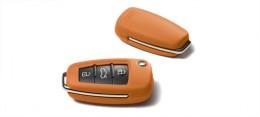 Кожаный футляр для ключа Audi Leather key cover, Magnolia white 8X0071208 2Y4