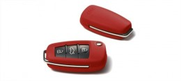 Кожаный футляр для ключа Audi Leather key cover, crimson red 8X0071208  70U