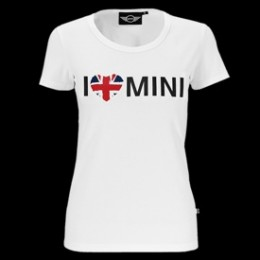 Женская футболка Mini Ladies I Love Mini T-Shirt, White 80 14 0 446 079