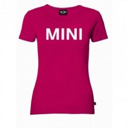 Женская футболка Mini Ladies' Wordmark T-Shirt, Pink 80 14 2 211 297