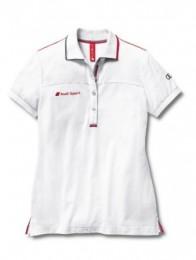 Женская футболка-поло Audi Sport Ladies Polo Shirt White 3131202113