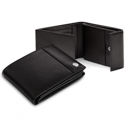 Мужской кожаный кошелек BMW Men's Wallet Black (80212179721)