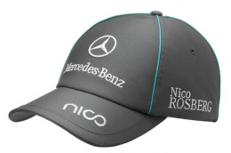 Бейсболка Mercedes-Benz Men's Rosberg Cap 2012, Motorsport B67995036