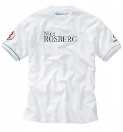 Мужская футболка Mercedes Men's Rosberg T-Shirt White B67995009
