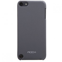 Пластиковая накладка ROCK NakedShell series для Apple iPod Touch 5  Черный / Dark Grey 3492