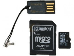 Kingston MicroSDHC 16GB Class 10 Mobility Kit Gen2 (MBLY10G2/16GB)