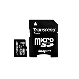 Silicon Power MicroSDHC 4GB Class 4 + SD-adapter (SP004GBSTH004V10-SP)