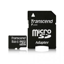 Transcend microSDHC 8GB Class 4 + SD - adapter (TS8GUSDHC4)