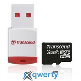 Transcend MicroSDHC 32GB Class 10 + P3 Card Reader (TS32GUSDHC10-P3)
