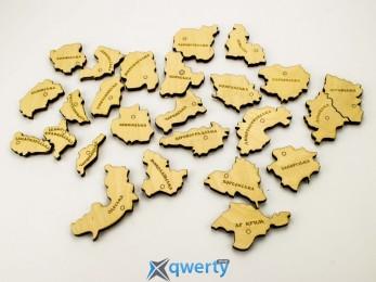 Карта Украины Деревянная с Магнитами