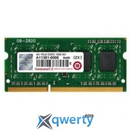 4 GB SO-DIMM DDR3 1600 MHz Transcend (JM1600KSH-4G)
