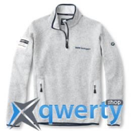 Мужской флисовый пуловер BMW Mens's Yachting Fleece Pullover Grey  80 14 2 318 334