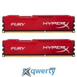 8GB DDR3 (2x4GB) 1600 MHz Kingston HyperX Fury Red (HX316C10FRK2/8)