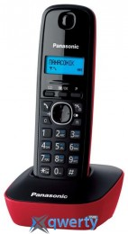 Panasonic KX-TG1611UAR Black Red